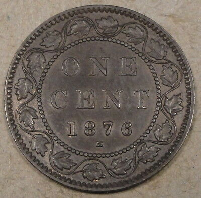 Canada 1876-H Large Cent as Pictured