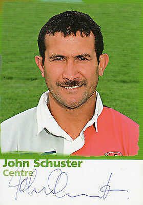 John Schuster Autographed Photo Rugby