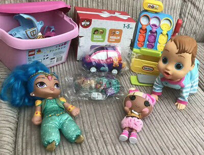 Baby/Toddler Toy Bundle( Wow Charlie Interactive Doll,wow Car & Carriage NEW)