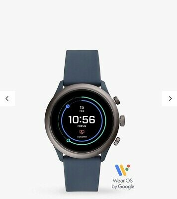 Fossil Q Men Silicone Strap Touch Screen Smartwatch Blue Fitness Tracker RRP£140