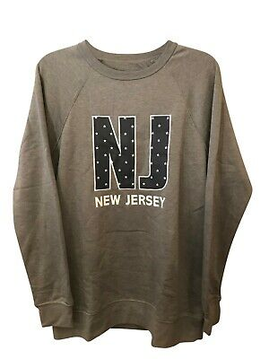 New Jersey  STATE OF MINE Women's  Grey Heather Sweater's variety of size's