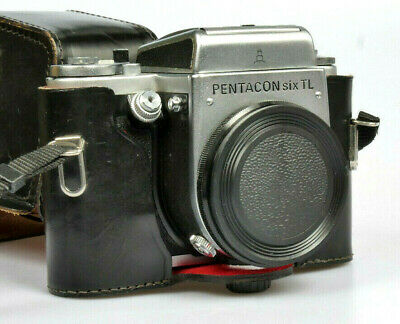 Pentacon 6 TL Medium Format Camera Body only but with leather case *NR
