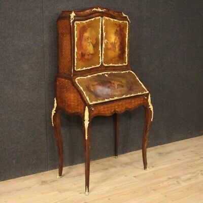 Trumeau Fore Secrétaire Furniture Antique Secretary Desk Inlaid Painted Wood 800