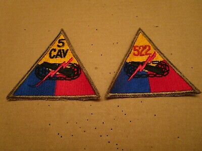 US Army 1950s Armored Triangle Regt Patches (2)