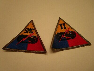 US Army 1950s Armored Regt Triangle Patches (2)
