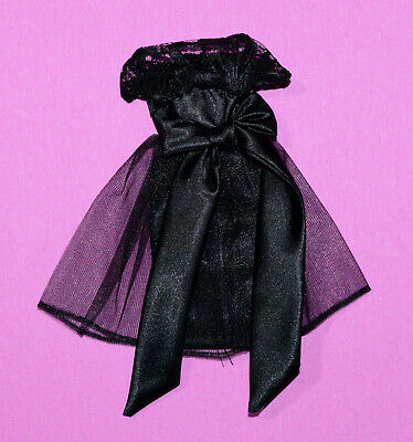 """Untagged Black Dress with Lacy Bodice for 11-12 1/2"""" Fashion Dolls"""
