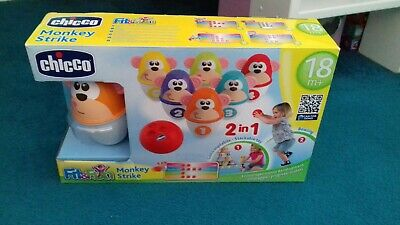 Chicco Monkey Strike Bowling Game 18months + Boxed