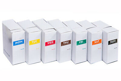 Food Date Labels, Food Safety labels (1000 per box), Mon - Sun 25mm SQUARE