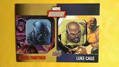 2016 upper deck marvel annual black panther / luke cage patch #dcp-6 ref.0914
