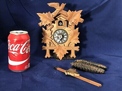 Vintage Antique Germany Black Forest Cuckoo Clock With pendulum