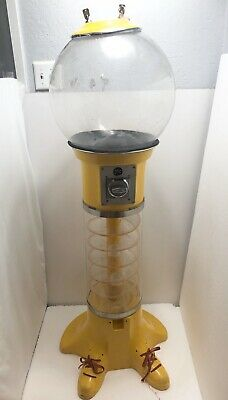 Vintage Beaver Spiral 25 Cent Gumball Machine 5 Ft Tall VERY RARE