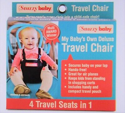 Snazzy Baby Travel Chair Harness, Restraint, For Chair, Lap, Trolley, Plane, NIB