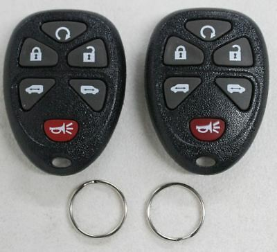NEW Replacement 6-Button Keyless Entry Remote Car Key Fob 2-Pack For 15114376