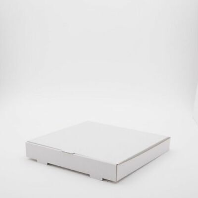 50 x 12 inch WHITE Pizza Boxes, Takeaway pizza Box, Strong Quality Postal Boxes