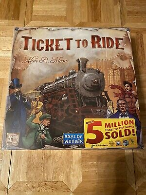 NEW!!! Days of Wonder Ticket To Ride by Alan R. Moon Train Adventure Board Game