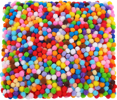 2000 Pieces 6 mm Pom Poms for Craft Making, Hobby Supplies and DIY Creative