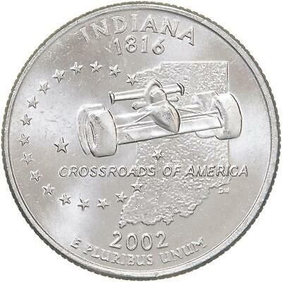 Book #7168 A BU Coin 2002 P Indiana State Quarter Clad Finish Your State Qtr