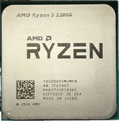 AMD RYZEN 3 2200G 4-Core 3.5GHz 4MB Vega 8 Graphics AM4 Desktop Processor CPU