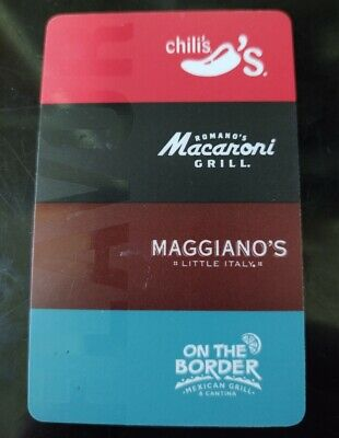 $105.00 Chili's Macaroni Grill Maggiano's On The Border! Gift Cards! Free Ship!