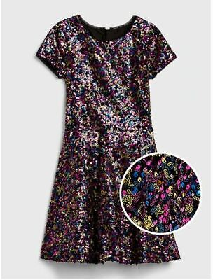 NEW GAP Kids Sequin Fit and Flare Dress LARGE (10), XL (12), XXL (14-16)