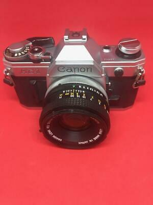 Canon AE-1 with 50mm f/1.8 lens (Student Camera)
