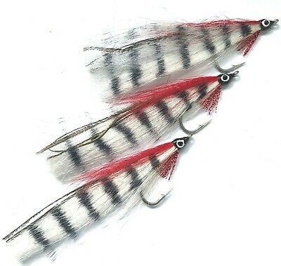 Sea bass pike perch 130mm UK seller 1st class Red Head Comet fishing fly