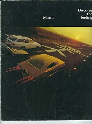 ND-007 Mazda RX3 and RX4 Advertising Brochure two fold Discover 1970's illustrtd