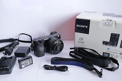 Sony ILCE6000LB Alpha A6000 Mirrorless Camera, 16-50mm Lens - Black Mint, Boxed