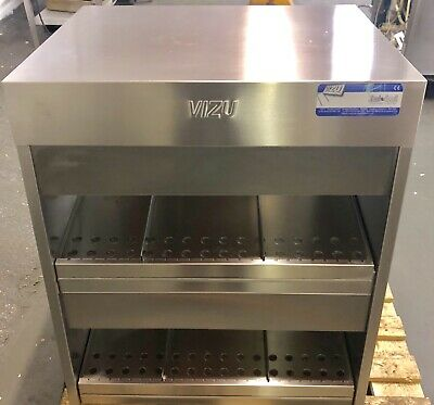 Vizu Hot Holding Pass Through Merchandiser Fast Food Table Top Large Capacity
