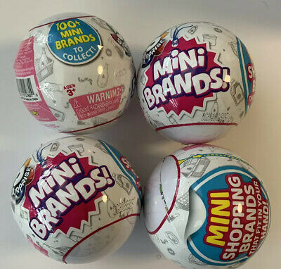 Zuru 5 Surprise Mini Brands Balls New Sealed Authentic Lot Of 4