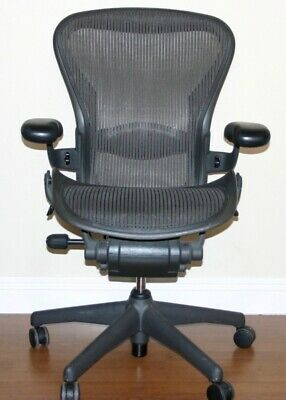 Herman Miller Aeron Office Chair Graphite Mesh Size B