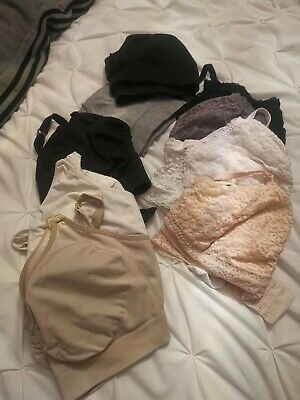9 lot Nursing Bras Lace H&M M size Emma Jane Sleeping Bras