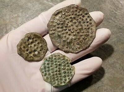 Lot Of 3 Scarce Ancient Greek Bronze Age ARMOUR PLATES, Helladic Period, 1000 BC