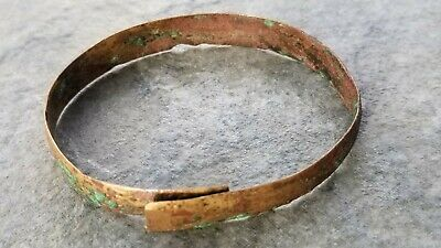 Ancient Roman Flat Bronze BRACELET (B), Intact, 1st - 4th Century AD, 61 mm