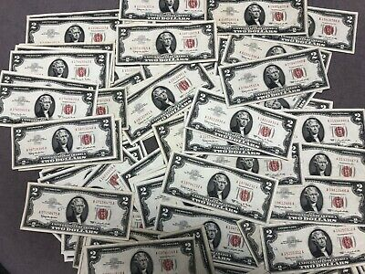 1963  $2 US Note Red Seal All Grades Circulated Free Shipping