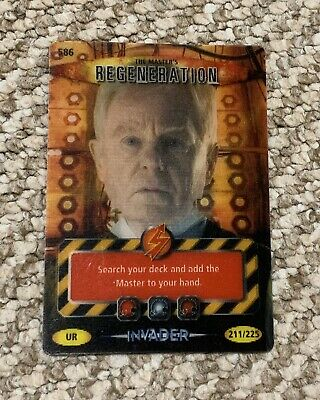 Doctor Who BATTLES IN TIME Invader ULTRA RARE CARD 586 The Master's Regeneration