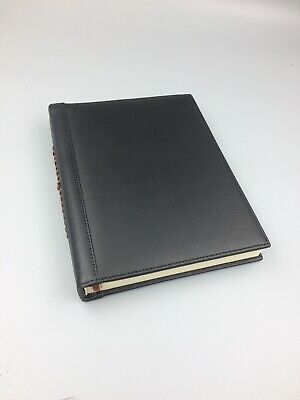 Black Leather Notebook Writing Journal Lined Diary Book