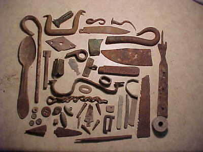 Neat lot of early dug relics used by Apache Indians in southern New Mexico NM
