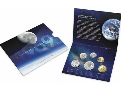 2019 AUSTRALIA UNCIRCULATED MINT 6 COIN SET 50TH ANNIVERSARY OF MOON LANDING New