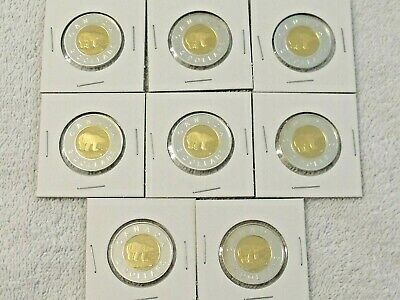 Lot of Canada Sterling Silver Proof $2 Coins - Gold Plated