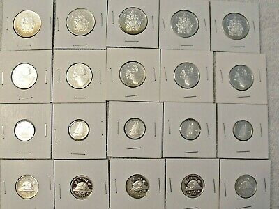Lot of Canada Sterling Silver Proof Coins 1998 - 2001