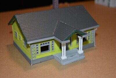 Hobby train town unassembled DIY Kit HO Scale Cottage house set Gray