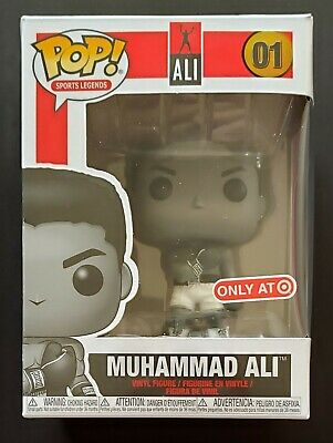 Funko POP MUHAMMAD ALI #1 Black & White Target Exclusive w/ Protector FREE SHIP