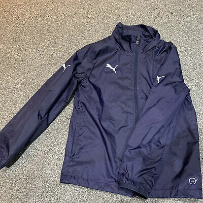 Boys  Puma Navy Windcheater / Raincoat Jacket Size 26/28 Approx Age 8-10