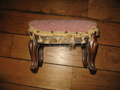 Antique footstool, upcycle project
