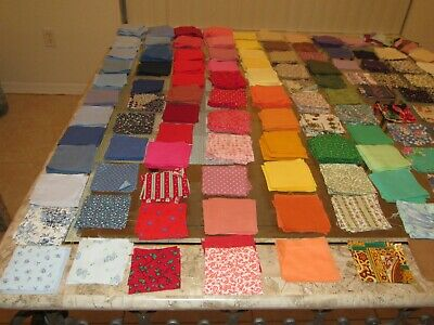 "100's Of 3"" Cotton Fabric Quilting Squares & More"