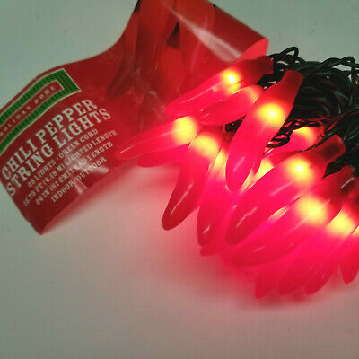 Red Chili Pepper Southwestern Light Set for Parties, Christmas, Home Decor
