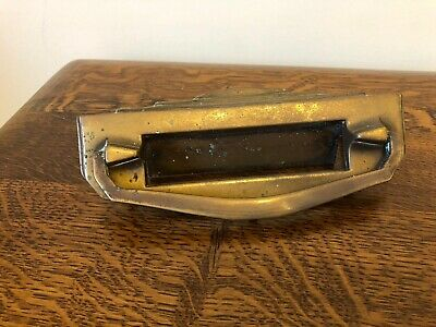 Genuine Vintage Brass Letterbox & Door Knocker Reclaimed