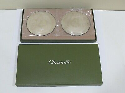 A Pair of CHRISTOFLE Cup Coasters FRANCE, New old stock