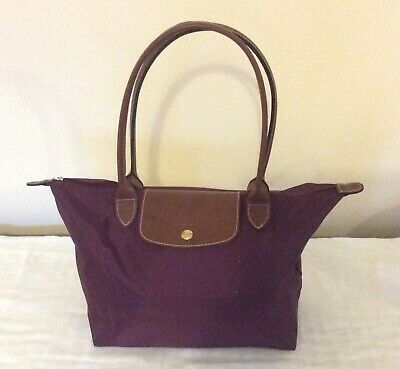 Branded Genuine Longchamp Medium Women Pure Leather Strap Evening Tote Handbags